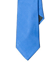 Lauren® Men's Blue Solid Silk Tie