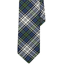 Lauren® Men's Navy Narrow Madras Tie