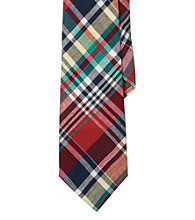 Lauren® Men's Red Narrow Madras Tie