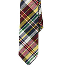 Lauren® Men's Green Narrow Madras Tie