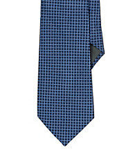 Lauren® Men's Blue Micro-Checked Jacquard Silk Tie
