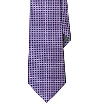 Lauren® Men's Lavender Micro-Checked Jacquard Silk Tie