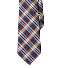 Lauren® Men's Navy Plaid Silk Twill Tie