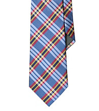 Lauren® Men's Blue Plaid Silk Twill Tie