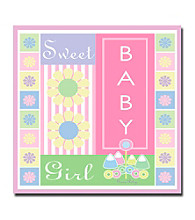 "Trademark Fine Art ""Sweet Baby Girl"" by Grace Riley Gallery Wrapped Canvas Art"