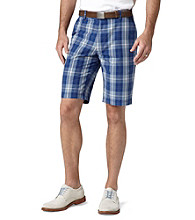 Dockers® Men's East India Blue Classic-Fit Perfect Flat Front Coleman Plaid Short