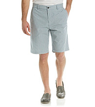 Dockers® Men's Deck Blue Classic-Fit Perfect Flat Front Batali Check Short