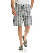 Dockers® Men's Burma Grey Classic-Fit Schofield Plaid Cargo Short