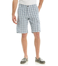 Dockers® Men's Vintage Indigo Classic-Fit Larkcom Plaid Cargo Short