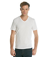 Guess® Men's White Short Sleeve Basic V-Neck Tee