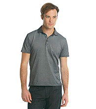 DKNY JEANS® Men's Black Two-Tone Pique Polo