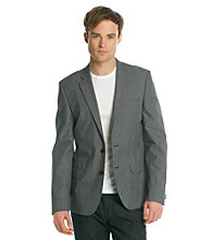 DKNY JEANS® Men's Grey Two-Button Pick Stitch Blazer