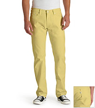 Levi's® Men's Smokin' Yellow 514™ Straight Fit Soft Washed Twill Jean