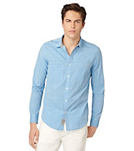 Calvin Klein Jeans® Men's Blithe Blue Chambray Long Sleeve Button Down Shirt