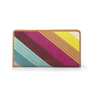 Fossil® Stripes Hunter Clutch