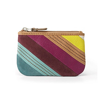Fossil® Stripes Hunter Coin Purse