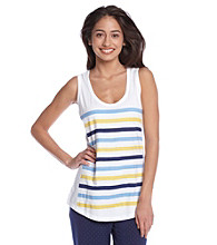Relativity® Screenprint Tank Top - Mod Stripe