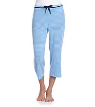 Relativity® Knit Stripe Sleep Capris - China Vase Stripe