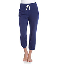 Relativity® French Terry Knit Crop Sweatpants - Deep Sapphire