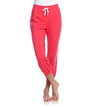 Relativity® Knit French Terry Crop Pants - Cherries Jubilee