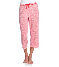 Relativity® Knit Capris - Cherry Ditsy