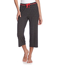 Relativity® Knit Capris - Black Stripe
