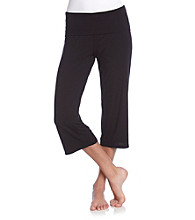 Relativity® Knit Crop Yoga Pants - Jet Black