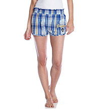 College Concepts Brewers Logo Plaid Boxers - Royal
