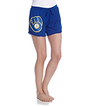 College Concepts Brewers Logo Burnout Boxers - Royal