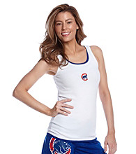 College Concepts Cubs Logo Ribbed Tank - White
