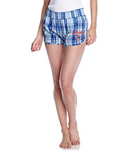 College Concepts Cubs Logo Plaid Boxers - Royal