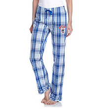 College Concepts Cubs Logo Plaid Pants - Royal