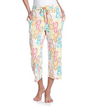 Cuddl Duds® Sleep Knit Capris - Pineapples