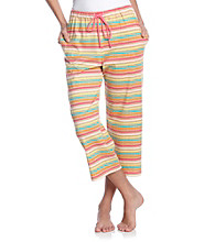 Cuddl Duds® Sleep Knit Capris - Multi Stripe