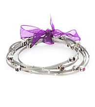 Cellini Stainless Steel Silver Guitar String Bangle Set