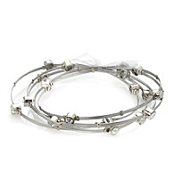 Celllini Stainless Steel Silver Guitar String Bangle Set