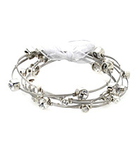 Cellini Stainless Steel Guitar Silver String Bangle Set