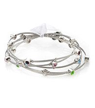 Celllini Stainless Steel Guitar Silver String Bangle Set