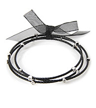 Cellini Stainless Steel Black Guitar String Bangle Set
