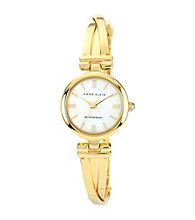 Anne Klein® Goldtone Bangle Bracelet Watch