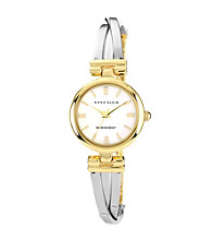 Anne Klein® Women's Two-Tone Bangle Bracelet Watch