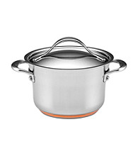 Anolon® Nouvelle Stainless Steel 3.5-qt Covered Saucepot