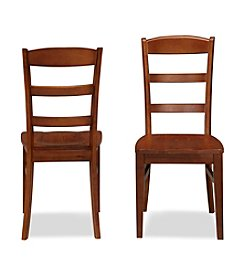 Home Styles® Set of 2 Durango Cherry Ladder Back Dining Chairs