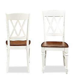 Home Styles® Rock River Set of 2 White Double Cross Back Dining Chairs