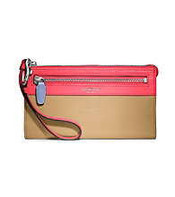 COACH LEGACY COLORBLOCK ZIPPY WALLET
