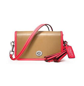 COACH LEGACY ARCHIVAL TWO-TONE LEATHER PENNY SHOULDER PURSE