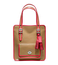 COACH LEGACY ARCHIVAL TWO-TONE LEATHER MAGAZINE TOTE