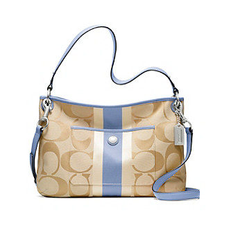 COACH HAMPTONS WEEKEND SIGNATURE STRIPE HIPPIE
