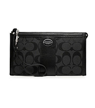 COACH LEGACY SIGNATURE ZIPPY WALLET