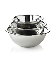 LivingQuarters 3-pc. Stainless Steel Mixing Bowl